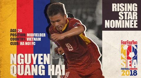 Báo châu Á đề cử Quang Hải ở hạng mục 'Cầu thủ trẻ hay nhất ĐNÁ'