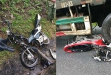 Xe container tông hàng loạt xe máy, 4 người thương vong