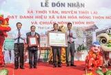 Thới Tân đón nhận danh hiệu xã văn hóa nông thôn mới