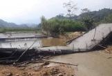 Cầu vừa đổ bê tông đã sập xuống sông ở Yên Bái