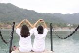 Người trẻ ngả nghiêng tìm view sống ảo ở hồ Đá Xanh