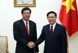 Phó Thủ tướng Vương Đình Huệ tiếp nguyên Thủ tướng Lào