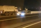 Xe ben chạy ngược chiều trên cao tốc TP.HCM – Long Thành