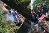 Xe buýt hỏng phanh lao khỏi cầu cao 20m, ít nhất 16 người chết