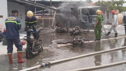Hiện trường vụ cháy trạm xăng dầu số 3 hôm tháng 5/2018