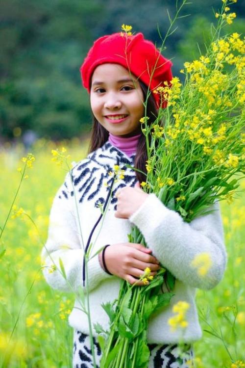 vườn hoa cải